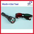 Офтальмологические Стоит 4 Теста Dot Красные Зеленые Очки Алюминиевый Корпус