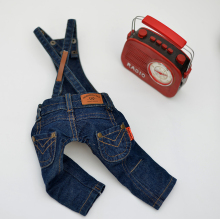 New Arrival Super Good Type Version Straps Trousers Pet Water Wash Jeans Pants Small Dog Clothes