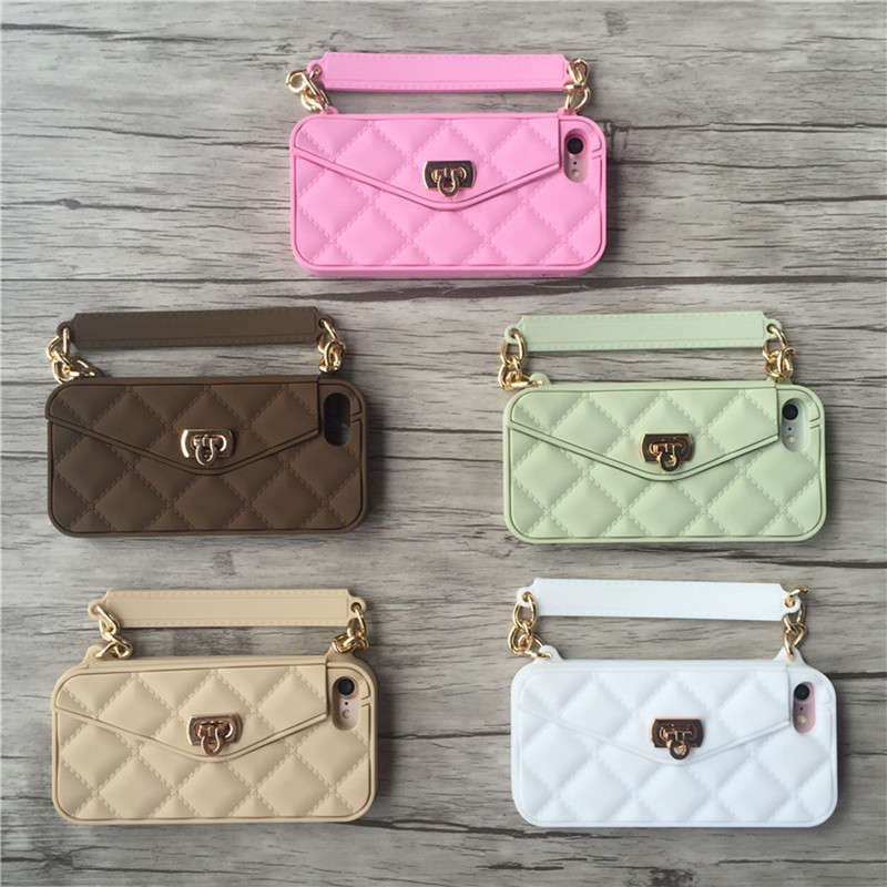 Lyxigt märke Plånbokskortsväska Bärbar handväska mjuk - Reservdelar och tillbehör för mobiltelefoner - Foto 5