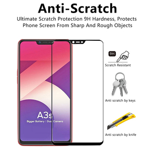 Image 2 - Tempered glass for oppo A3S glass screen protector 9H Full cover protective Films On the for oppo A5 Realme 6 Pro 6i Realmi 6 i6