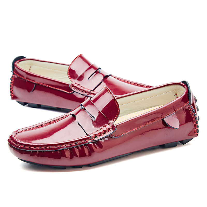 JKPUDUN Plus Size Mannen Casual Schoenen Luxe Merk Loafers Designer Slip Op Schoenen Mannen Mocassins Hoge Kwaliteit italiaanse Rijden Schoenen