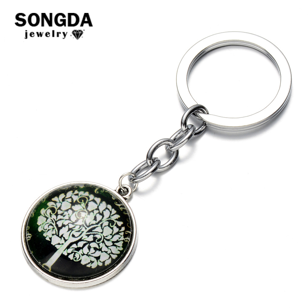 Online shop songda vintage charm tree of life pendant keychain online shop songda vintage charm tree of life pendant keychain crystal glass cabochon pendant meaning of life statement key chain for kids aliexpress aloadofball Images