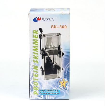 Sistema de filtro de tanque de peces de acuario marino desnatador de proteínas RESUN SK300 3,5 W 300 L/H