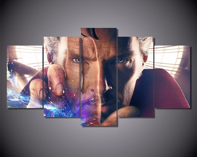 5piece wall art pictures home decor doctor strange fantasy movie