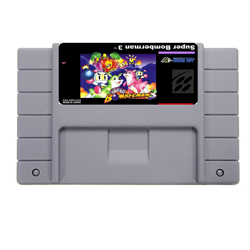 Hot Sale Super Bomberman 3 Game Card For 46 Pin 16 Bit NTSC Game Player