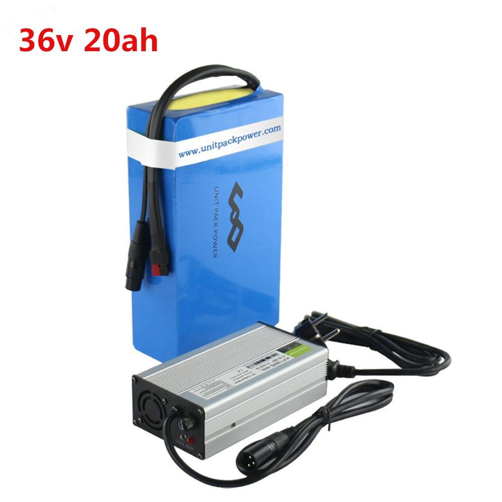 Livraison gratuite Scooter batterie 36 V vélo électrique batterie 36 V 20ah batterie lithium-ion avec 20A BMS 3A chargeur rapide