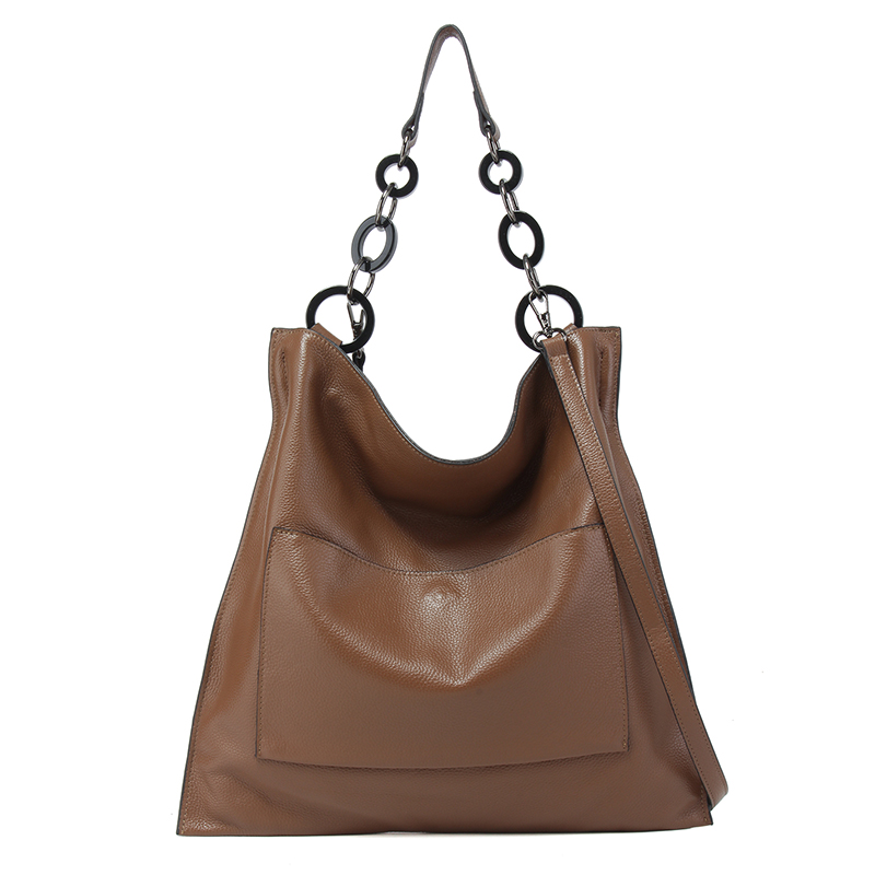 100 Real Cow Leather Handbag for Women Vintage Cowhide Shoulder Bag Ladies Large Capacity Tote Bag