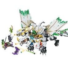 1100Pcs+ Ninjagoed Knight 4 IN 1Phantom Ultimate Dragon Building Blocks Compatible Legoings Ninjagoes Bricks Enlighten Toys Gift