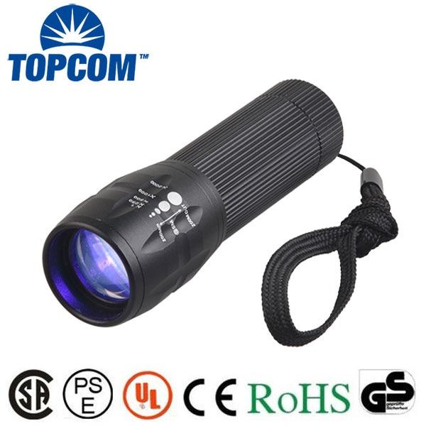 [Free ship] High power 5w led uv flashlight with zoom 390-395nm