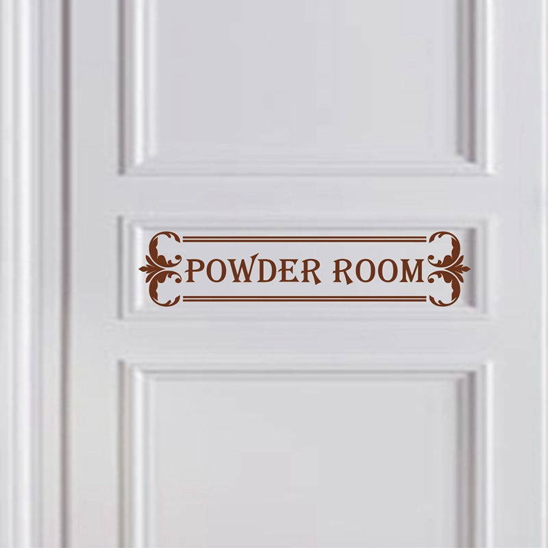 Us 4 31 6 Off Powder Room Door Decal Girls Powder Room Decor Dressing Room Vinyl Wall Sticker In Wall Stickers From Home Garden On