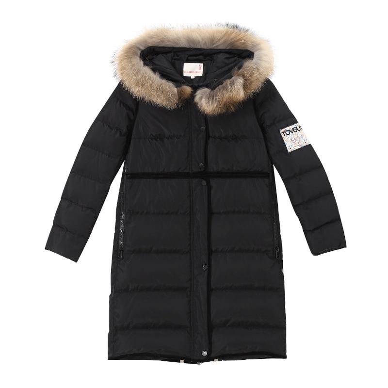 Black Veste Impression Toyouth Down Canard Duvet Hoodies De Brodée Manteaux 2019 Long D'hiver Caractère Femme green wwqx6S47