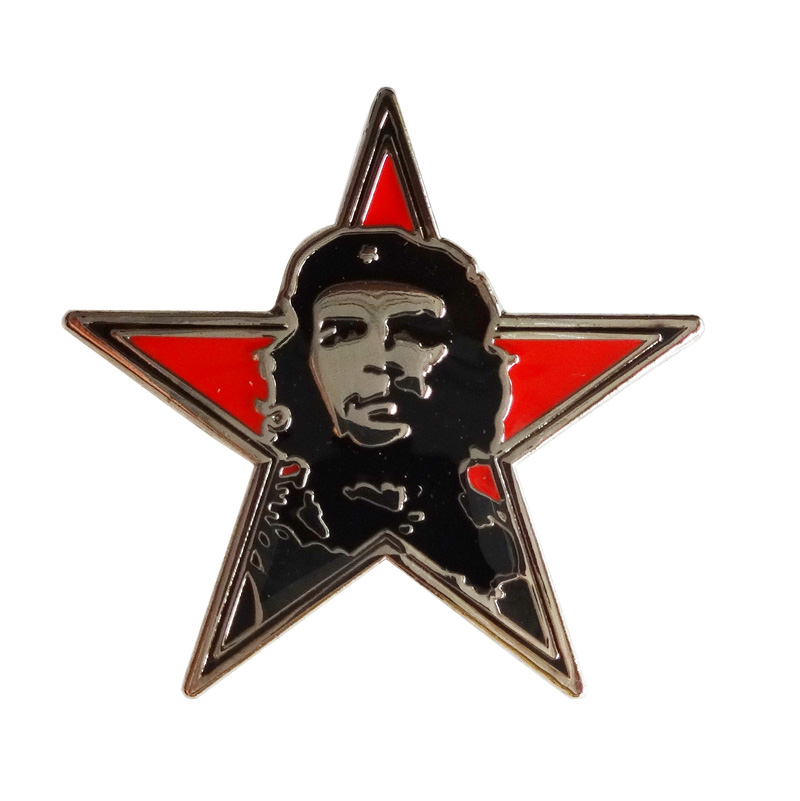 Star shape Che Guevara badges pins 300pcs lot