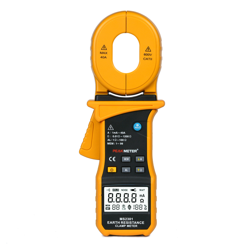 MS2301 LCD Electrical Professional Multifunction High Sensitivity Clamp Earth Ground Resistance Insulation Tester