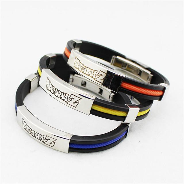 Dragon Ball Titanium Steel Silicone Bracelet