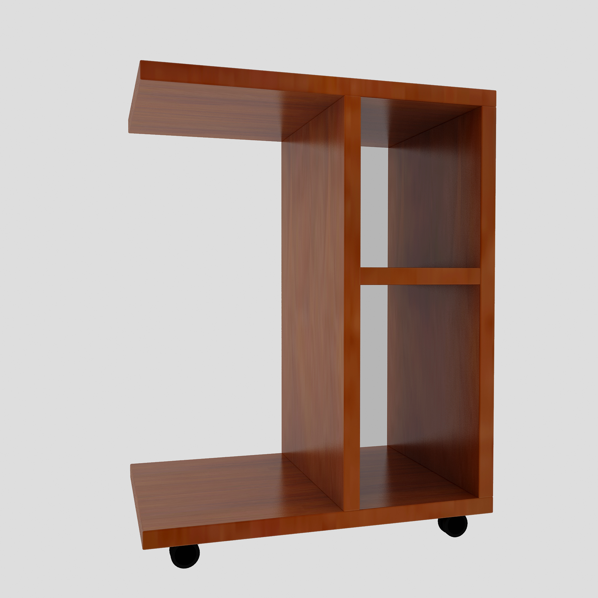 2B Modern Living Room Sofa Corner Coffee Table Imitation Wood Side Cabinets Bedside Coffee Table