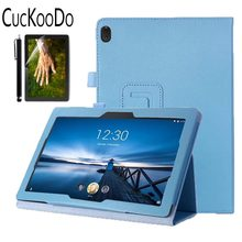 Housse de support pliante en cuir PU pour Lenovo TAB E10 TB-X104F tablette 10.1 pouces version 2018(China)
