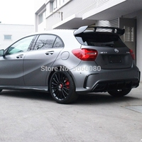 For Mercedes Benz A Class W176 A160 A180 A200 A250 A45 AMG 5 door Hatchback 2013 2018 ABS Plastic Rear Spoiler Wing Trunk Cover
