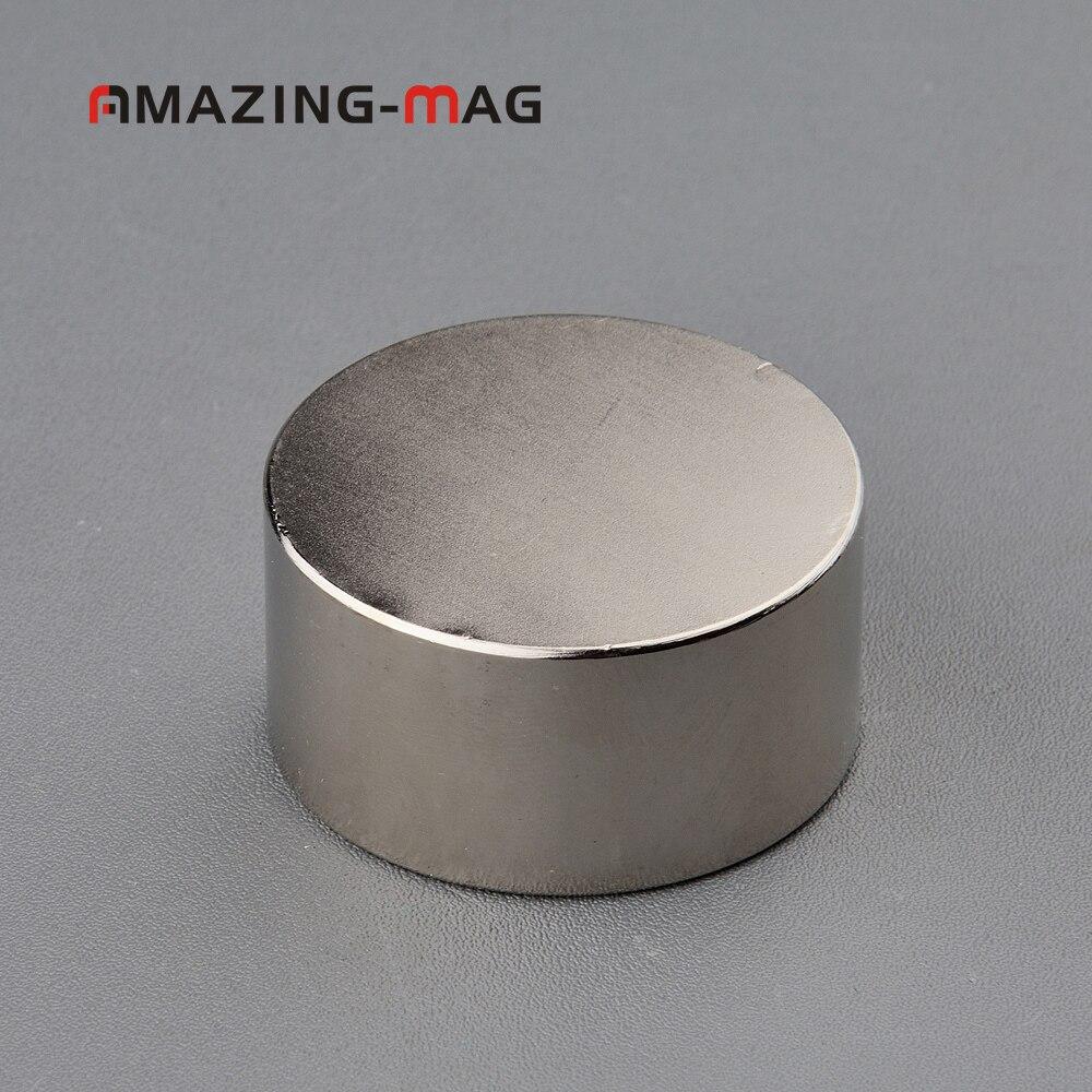 Strong Disc Rare Earth Permanent NdFeB Magnet D40 x 5mm Hole 6mm Eyebolt Ring