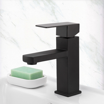 Frap Basin Faucet Black Square Bathroom Sink Faucet Tap Stainless Steel Bathroom Faucet Deck Mounted Basin Mixer Tap Y10170/-1 10