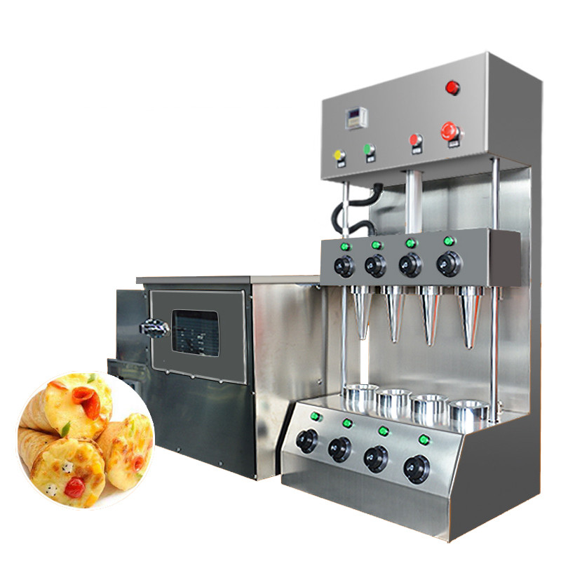 BEIJAMEI Pizza Cone Equipment Commercial Industrial Pizza Cone Maker/Making Machine Corn Pizza Maker and Pizza Oven Machine commercial used easy operation kono pizza cone making machine 2400w umbrella cone pizza 110v 220v stainless steel material