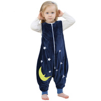 Baby Boy Girls Pajamas Cartoon Images Flannel Warm Sleeping Bag Kids Prevent The Kick Quilt Baby