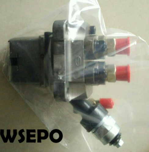 OEM Quality! Electric Fuel Pump Assy with Solenoid for 2V86F 836CC 20HP 12KW V-Twin Cylinder  Air Cooled Diesel Engine 3924450 2001es 12 fuel shutdown solenoid valve for cummins hitachi