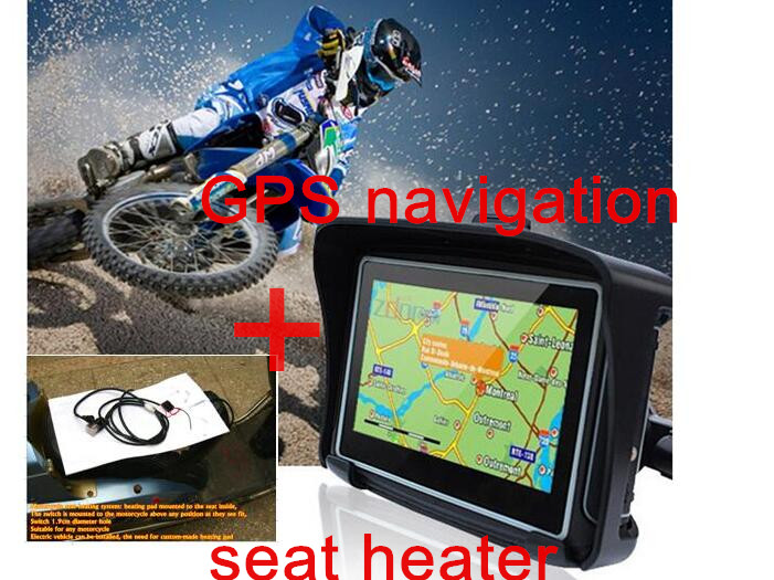 Мотоциклы нагрева для сиденья Спорт на открытом воздухе Отопление Мотоцикл самокатов Rider подогрев сидений и навигация GPS для мотоцикла