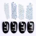 1 Pacote Branco Resina Pregos Decoração de Unhas 3D 2mm/2.5mm/3mm/3.5mm Manicure Nail Art Decoração