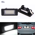 Pure White 1Pair 18SMD Error Free LED License plate lamp - Number plate Light for bmw E70 X5,E71 E72 X6