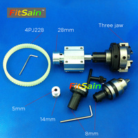 FitSain Hole 5mm Pulley Three Jaw Chuck D 50mm B12 Drill Chuck Cutting Saw Part Pulley