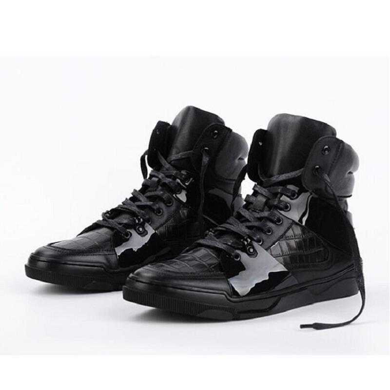 Confort Northmarch Genuino Los up Invierno Hombres Negro A Marca De Zapatos Hecha Mano Cuero Herren Winterschuhe Botas Lace wHw714