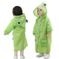MM041 Kawaii Kid Raincoat Waterproof Thicken Baby Coat Poncho Cloak Home Rain Gear Items Stuff Accessories