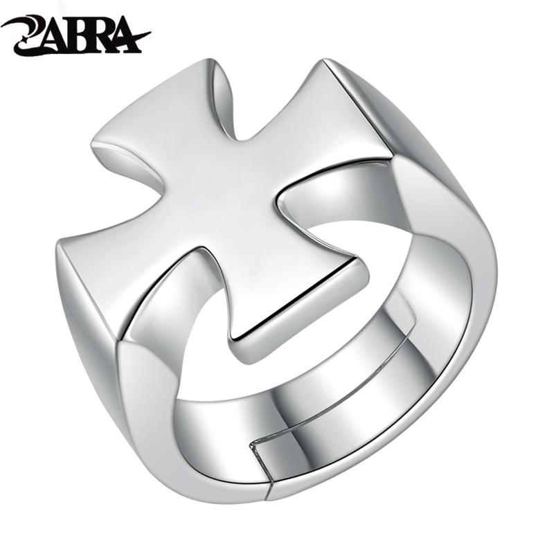 ZABRA Authentic 925 Sterling Silver Open Cross Men Ring Vintage Punk Biker Jewelry Christian Accessory Rings For Man Male AnelZABRA Authentic 925 Sterling Silver Open Cross Men Ring Vintage Punk Biker Jewelry Christian Accessory Rings For Man Male Anel