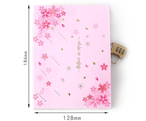 "Image 3 - ""Sakura Magic"" Lock Box Dagboek Notebook Leuke Journal Meisjes Briefpapier Gift"