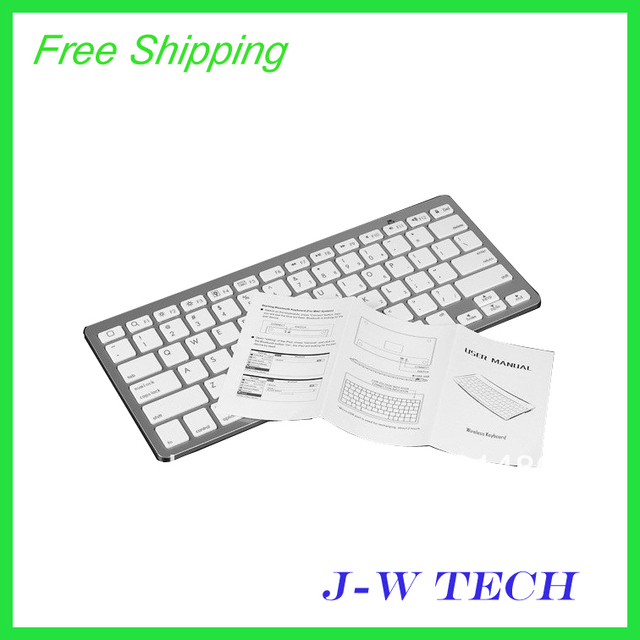 Wholesale  Brand new super thin wireless bluetooth keyboard for iPad  cordless keyboard for  Macbook Mac Computer PC and laptop