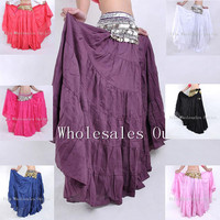 10pcs Lot New Style Gypsy Skirt Bohemia Style Skirt Clothes Belly Dance Costume Indian Set Bellydance
