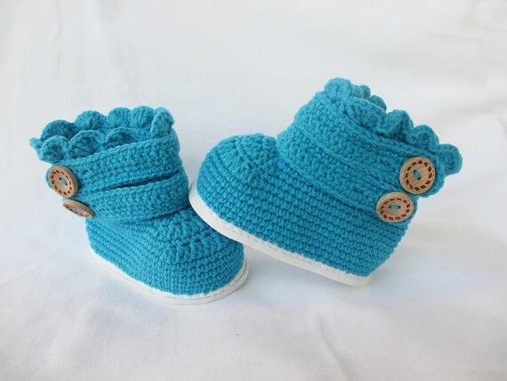 Малышей Сапоги и ботинки для девочек крючком, Малыш тапочки пинетки, Малыш тапочки крючком, малыш Классические ботинки