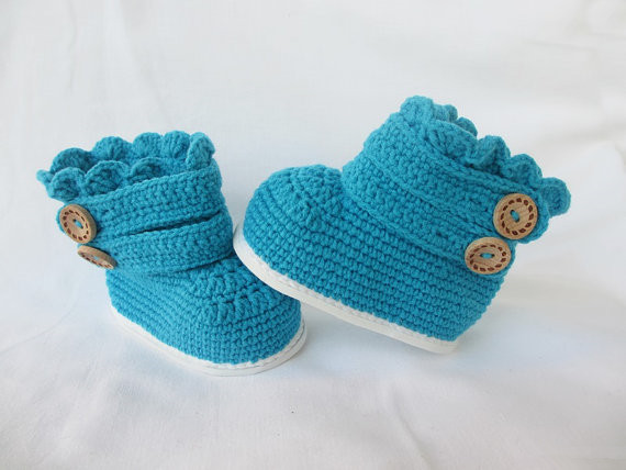 Toddler Boots Hæklet, Toddler Slipper Booties, Toddler Slipper Hæklet, Småbørn Classic Boots