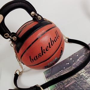 Image 2 - women ladies Messenger bags new fashion bag Basketball Shape