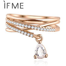 New Arrival Multilayer Cross Wedding Crystal Pendant Rings Jewelry Zircon Ring Accessories Wholesale For women Anillo