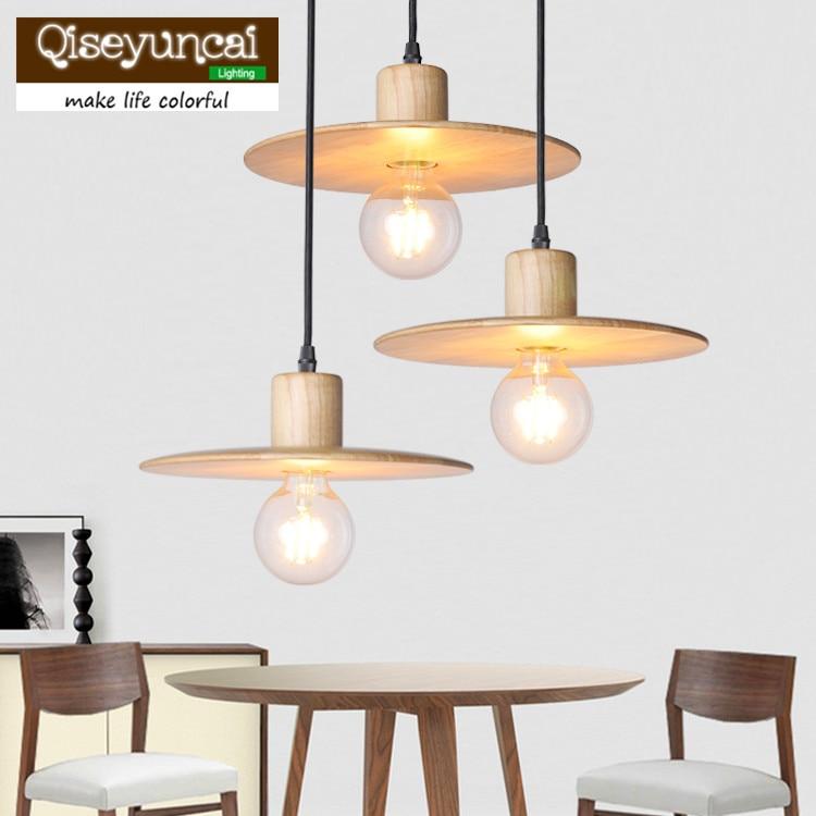 Qiseyuncai Modern minimalist wood sculpture E27 chandelier romantic fashion creative restaurants bar lighting rosalind e krauss passages in modern sculpture