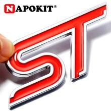 ABS di Plastica Emblema ST Etichetta Adesiva 3D ST Autoadesivo di Marchio di Stile di Sport per Ford Focus Fiesta Ecosport Kuga Mondeo Everest accessorio