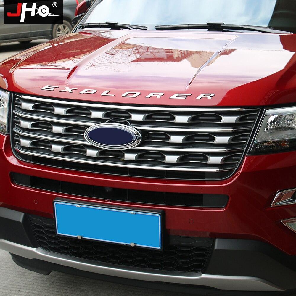 JHO voiture tête métal autocollants capot emblèmes décalcomanie capot Badge pour 2011-2019 Ford Explorer 12 13 14 15 16 17 18 lettrage style - 3
