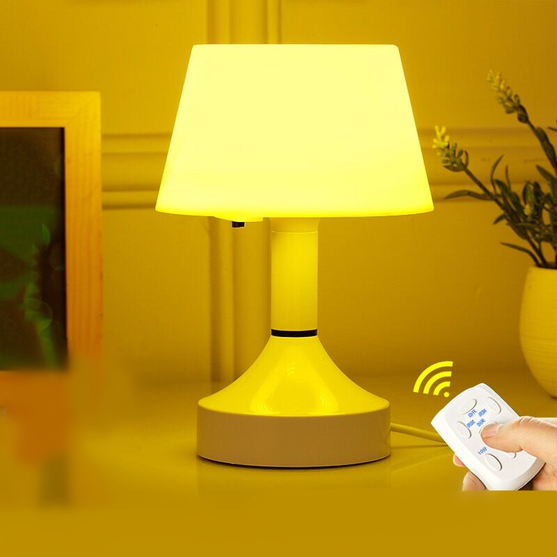 Creative LED remote control Dimming night light timer switch baby bed head light intelligent bedroom USB table lamp luminaria new energy saving creative small spotlight led remote control for cabinet light mirror lamp search light bed table light