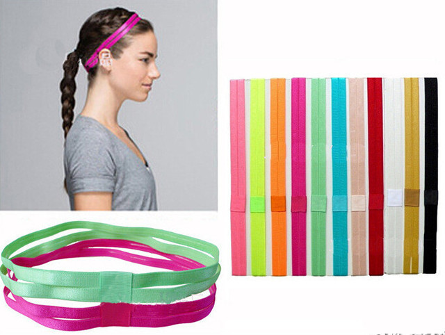 New fashion Sport Yoga Hair Bands for Women Elastic Hair Ties No-slip  Rubber Comfortable Cute colourful design ac80c89c6