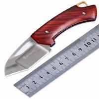 Browning DA88 D2 Blade Wood Steel Handle Folding Knife Camping Hunting Survival Tactical Pocket Gift Knife