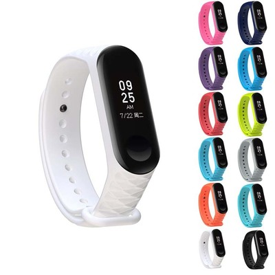 New diamond pattern Bracelet for Xiaomi Mi Band 3 Sport Strap watch Silicone wrist strap For xiaomi mi band Miband