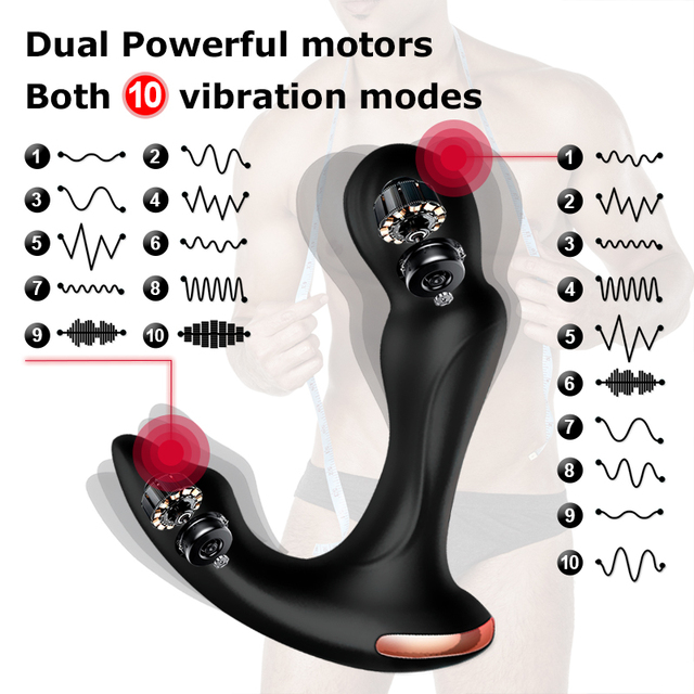Sex Toys For Men Prostate Massager Vibrator Butt Plug Anal Tail Rotating Wireless Remote USB Charging Adult Products For Man 3