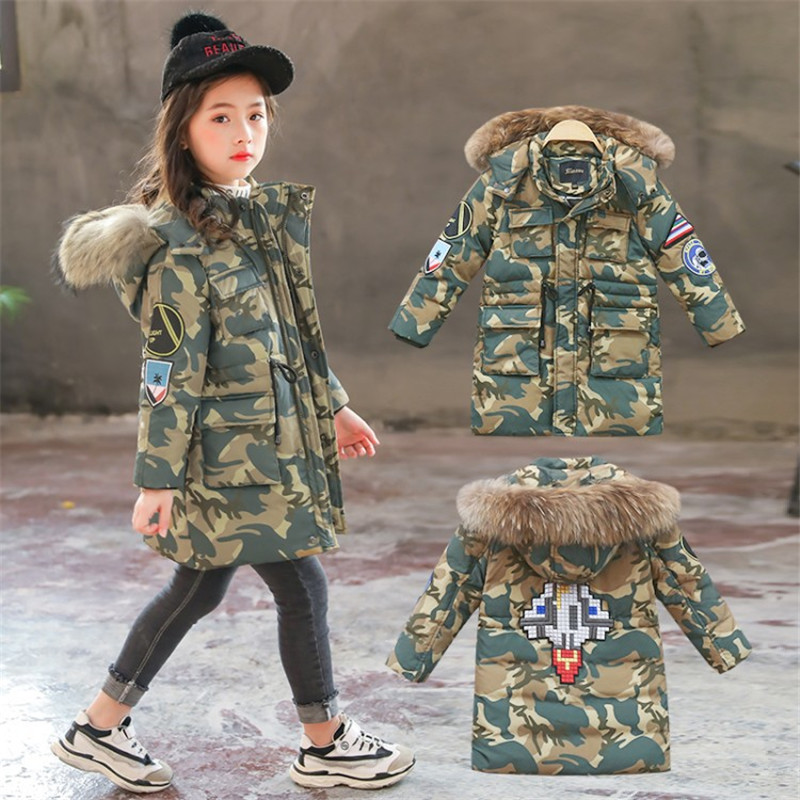 New Winter Coats For Girls Clothes Plus Thick Warm Down Jackets For Girls Coat Fashion Style Cotton Outerwear 4-12T Kids JacketNew Winter Coats For Girls Clothes Plus Thick Warm Down Jackets For Girls Coat Fashion Style Cotton Outerwear 4-12T Kids Jacket