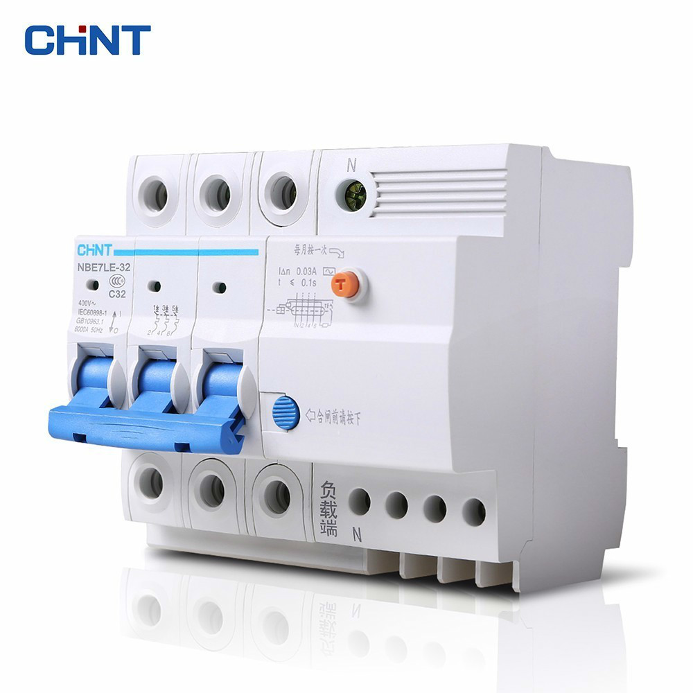 CHINT Leakage Protector NBE7LE 3P + N 32A With Electric Shock Protection Circuit Breaker Leakage Air Switch